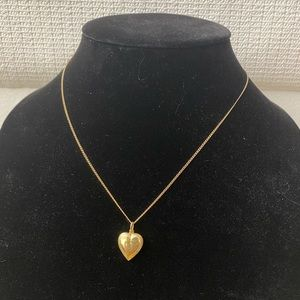 Jewelry - 10K Solid Gold Heart Pendant Necklace